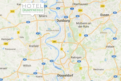 Good accessibility - meetings in Hotel Dampfmühle